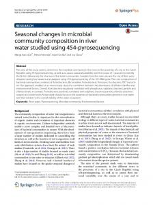 Seasonal changes in microbial community composition in river water ...
