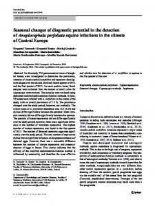 Seasonal changes of diagnostic potential in the