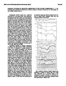 SEASONAL CHANGES OF METHANE ABSORPTION IN THE ...