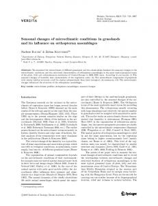 Seasonal changes of microclimatic conditions in ...