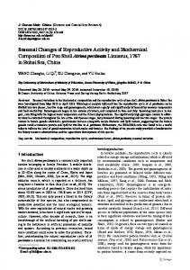 Seasonal Changes of Reproductive Activity and ... - Springer Link