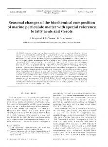 Seasonal changes of the biochemical composition of ... - Inter Research