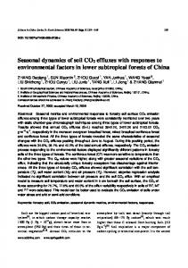 Seasonal dynamics of soil CO2 effluxes with responses to ...