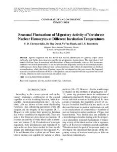 Seasonal Fluctuations of Migratory Activity of ... - Springer Link