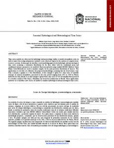 Seasonal Hydrological and Meteorological Time ... - SciELO Colombia