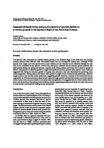 Seasonal Ichthyodiversity and Growth Patterns of ... - Springer Link