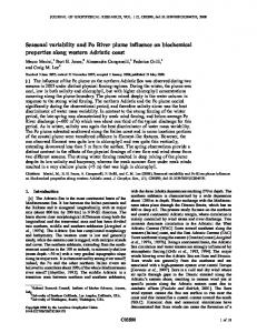 Seasonal variability and Po River plume ... - Wiley Online Library