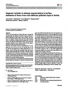 Seasonal variation in element concentrations in ...