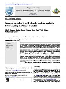 Seasonal variation in milk vitamin contents available for ...www.researchgate.net › publication › fulltext › Seasonal-