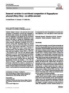 Seasonal variation in nutritional composition of ...
