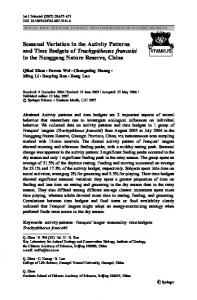 Seasonal Variation in the Activity Patterns and Time Budgets of ...