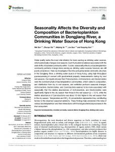 Seasonality Affects the Diversity and Composition ... - Semantic Scholar