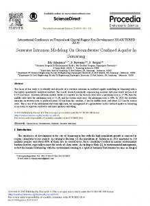 Seawater Intrusion Modeling on Groundwater Confined Aquifer ... - Core