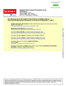 Seawater Sulfur Isotope Fluctuations in the