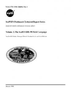 SeaWiFS Postlaunch Technical Report Series Volume 3, The ...