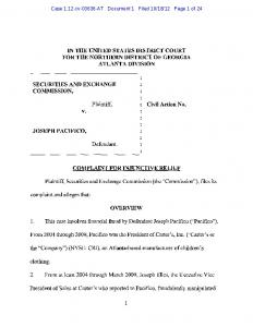 SEC Complaint: Joseph Pacifico - Securities and Exchange ...