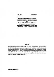 secchi disk observations in the nordic seas 1991-2004
