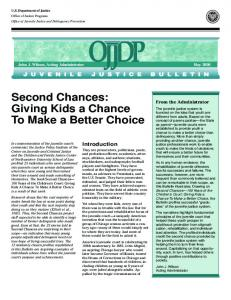 Second Chances: Giving Kids a Chance To Make a Better Choice