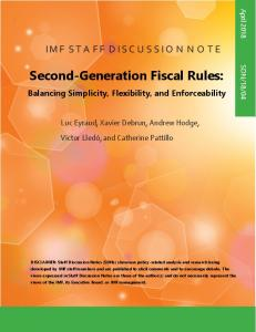 Second-Generation Fiscal Rules - IMF