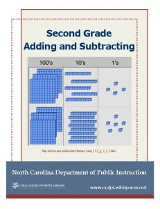 Second Grade Adding and Subtracting - NC Math Common Core