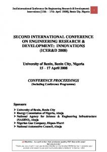 second international conference on engineering ...