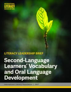 Second-Language Learners' Vocabulary and Oral Language