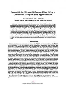 Second-Order Divided-Difference Filter Using a