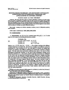 second-order necessary and sufficient optimality conditions for ... - cimpa