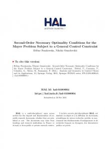 Second-Order Necessary Optimality Conditions for the Mayer Problem ...