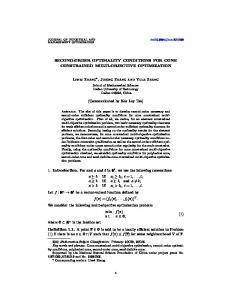 SECOND-ORDER OPTIMALITY CONDITIONS FOR