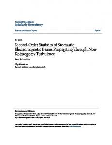 Second-Order Statistics of Stochastic Electromagnetic Beams ...