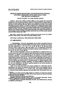 SECOND ORDER SUFFICIENT CONDITIONS FOR ...