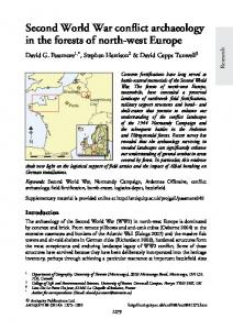 Second World War conflict archaeology in the forests