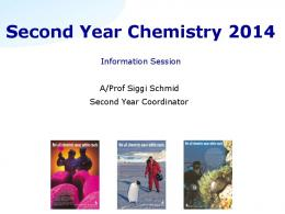 Second Year Chemistry 2013 - First Year Chemistry