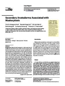 Secondary Anetoderma Associated with Mastocytosis