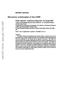 Secondary anisotropies of the CMB