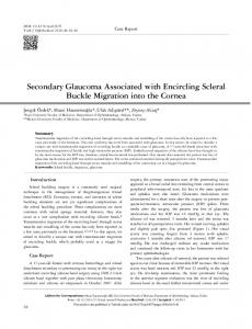 Secondary Glaucoma Associated with Encircling Scleral Buckle ...