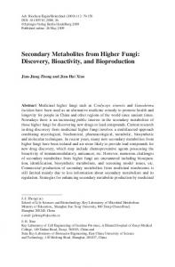 Secondary Metabolites from Higher Fungi: Discovery ... - Springer Link
