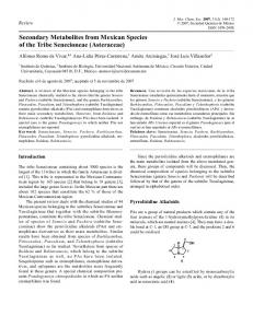 Secondary Metabolites from Mexican Species of the Tribe ... - SciELO