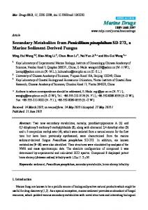 Secondary Metabolites from Penicillium pinophilum ... - BioMedSearch