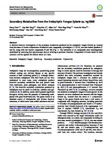 Secondary Metabolites from the Endophytic Fungus ... - Springer Link