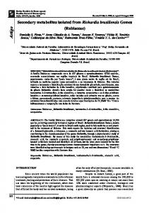 Secondary metabolites isolated from Richardia brasiliensis Gomes ...
