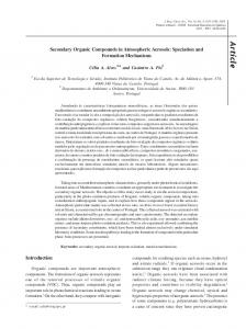 Secondary Organic Compounds in Atmospheric Aerosols: Speciation ...