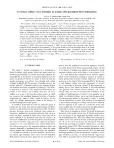 Secondary solitary wave formation in systems with