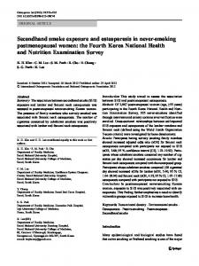 Secondhand smoke exposure and osteoporosis in ... - Springer Link