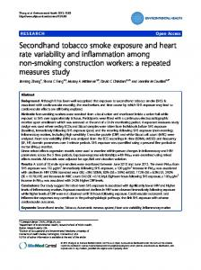 Secondhand tobacco smoke exposure and heart rate variability and ...