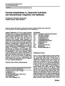 Secreted phospholipase A2, lipoprotein hydrolysis ... - BioMedSearch