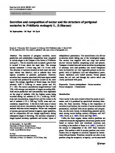 Secretion and composition of nectar and the structure of ... - Core