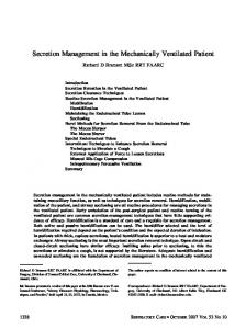 Secretion Management in the Mechanically ... - Semantic Scholar