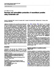 Secretory and extracellular production of recombinant proteins using